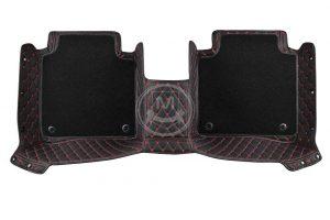 Premium Manicci Luxury Car Floor Mats black with red 4