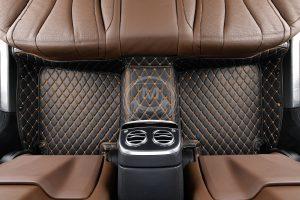 Black with Orange Luxury Custom Car Floor Mats 4