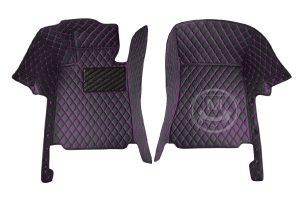 Black with Purple Luxury Custom Car Floor Mats 2