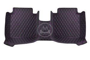 Black with Purple Luxury Custom Car Floor Mats 3