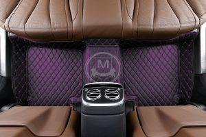 Black with Purple Luxury Custom Car Floor Mats 4