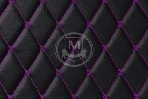 Black with Purple Luxury Custom Car Floor Mats 7